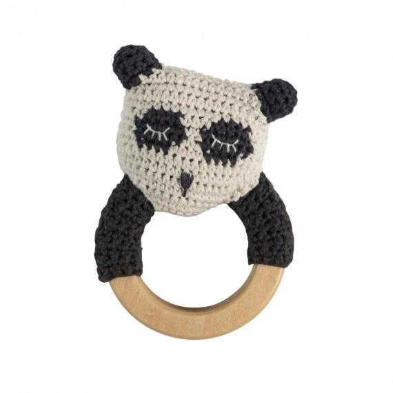 Sebra - Hochet crochet Panda