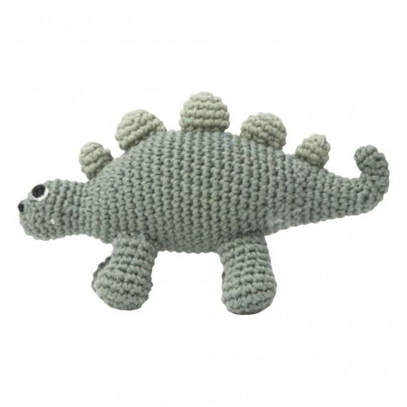 Sebra - Dino en crochet vert
