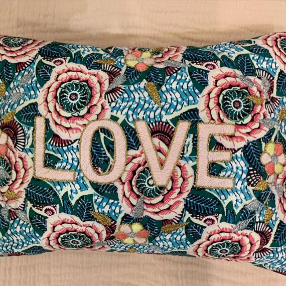 CSAO - Coussin Love - fleur