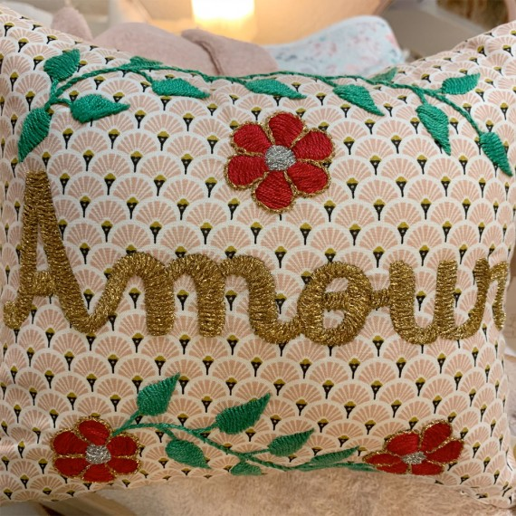"""CSAO - Coussin """"AMOUR"""" en Or 2"""