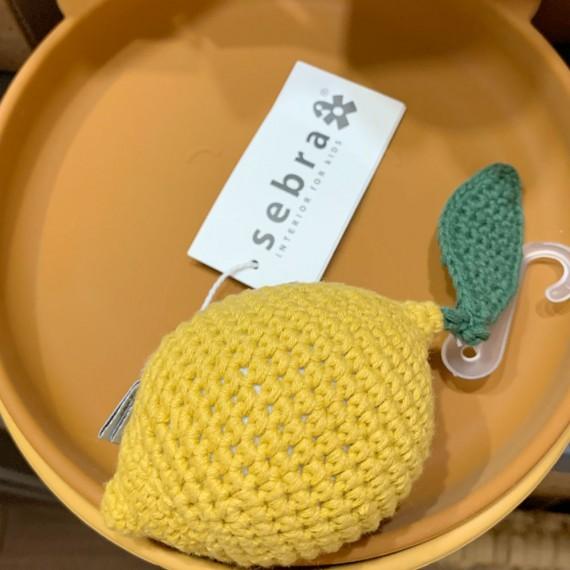 Sebra - Hochet crochet Citron